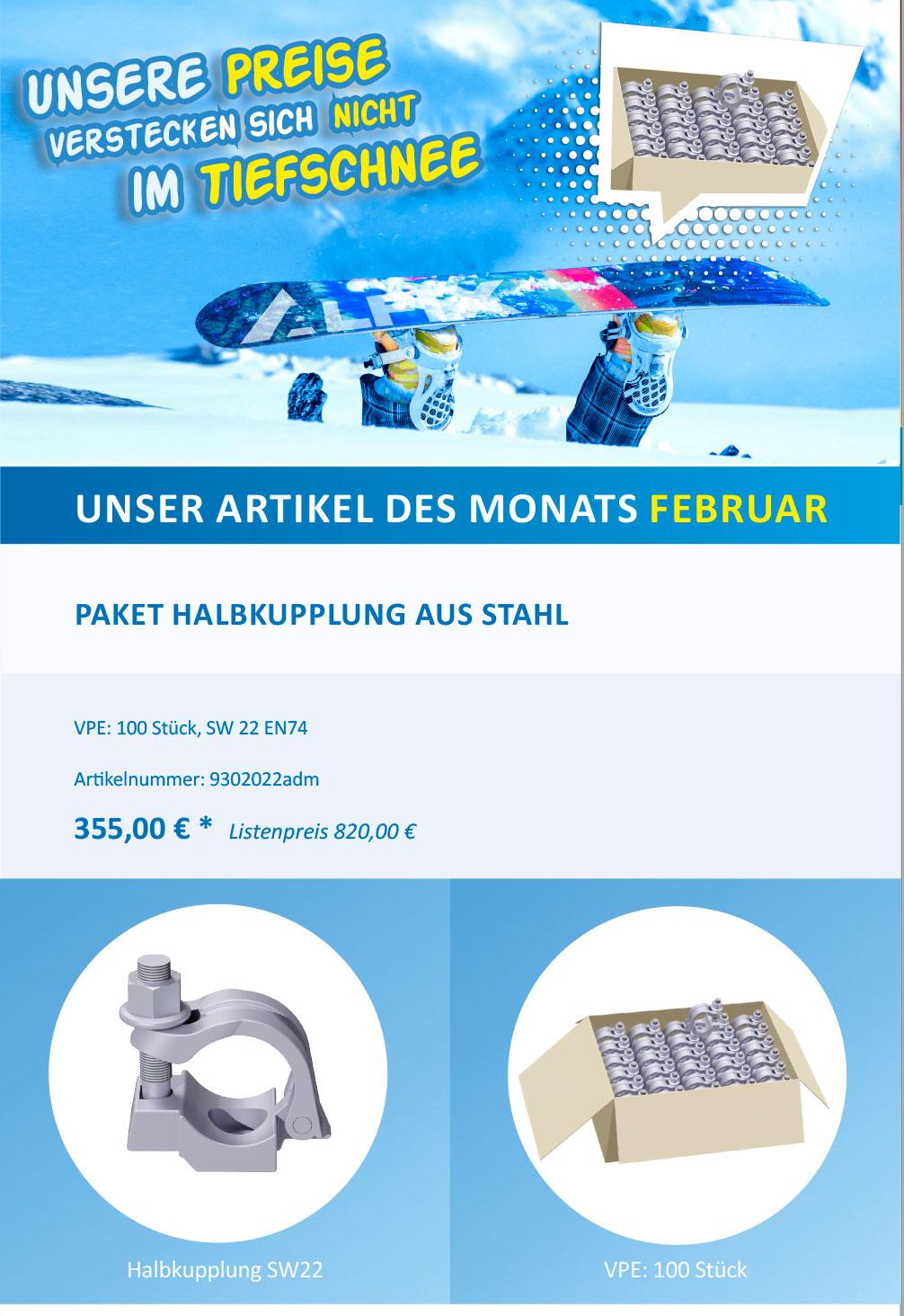 Banner Angebot des Monats Februar 2019